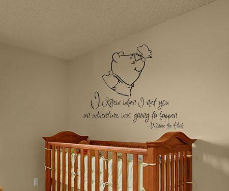 Winnie the pooh adventure wall decal sticker