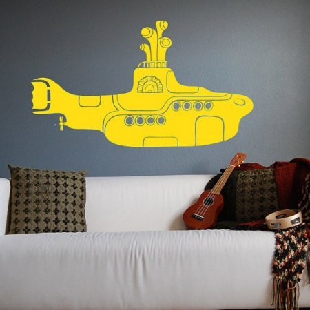 Yellow submarine wall decal sticker