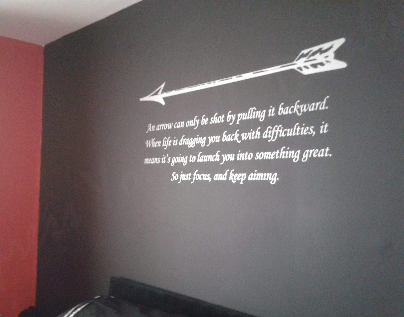 Arrow quote wall decal sticker