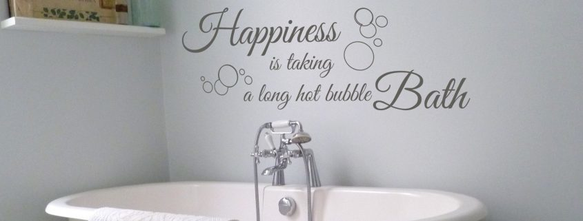 Bubble bath wall decal sticker