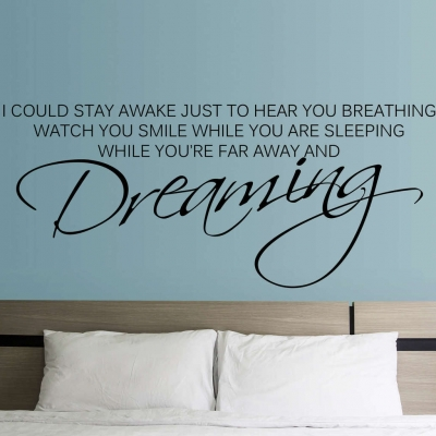 Watch you dreaming wall decal sticker