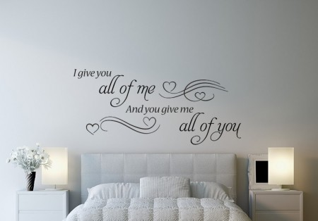 All of me wall decal sticker