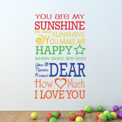 My sunshine wall decal sticker