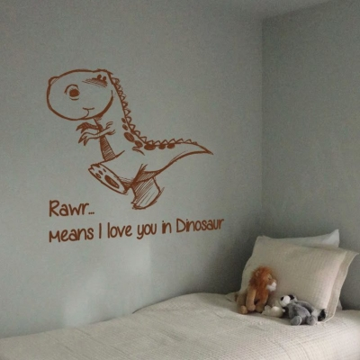 Rawr means wall decal sticker