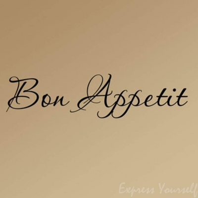 Bon Appetit wall decal sticker