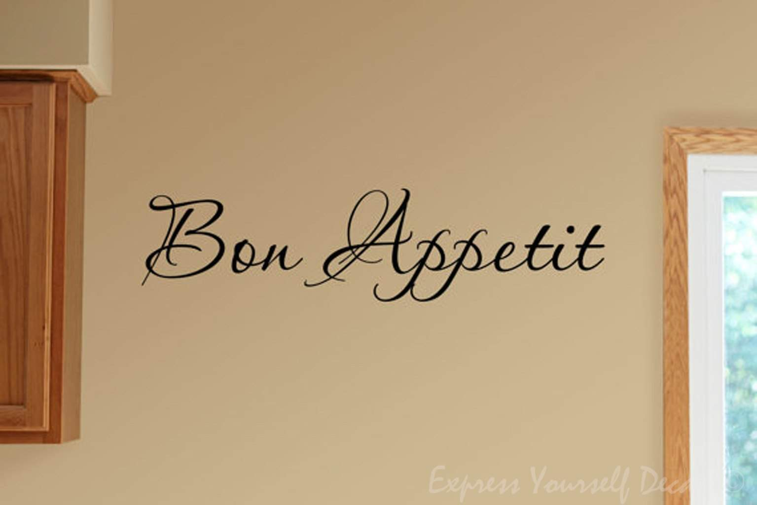 Bon appetit wall decal sticker wall decal wall art decal - Wall decor stickers online shopping ...