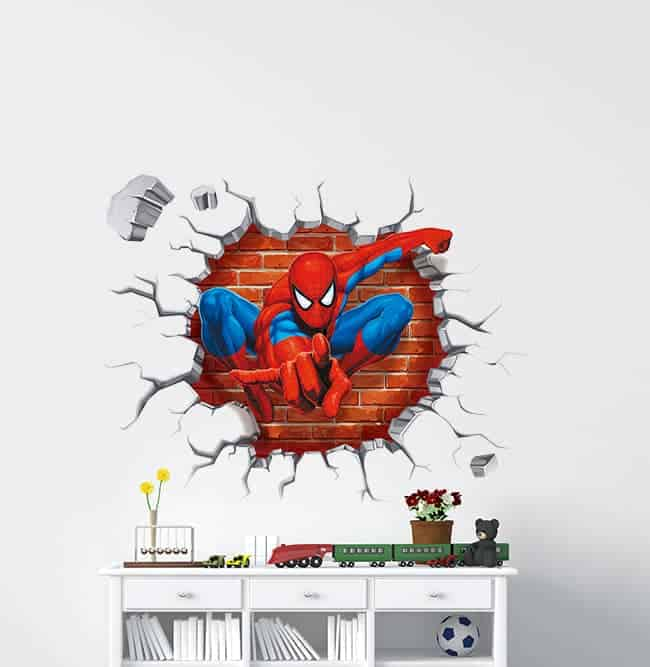 Spiderman 3d Smashed Wall Decal