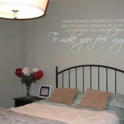 Feel my love wall decal sticker