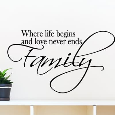 Family wall decal sticker
