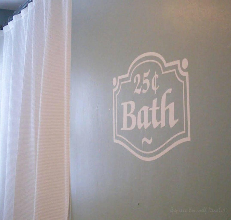 Bath 25cent wall decal