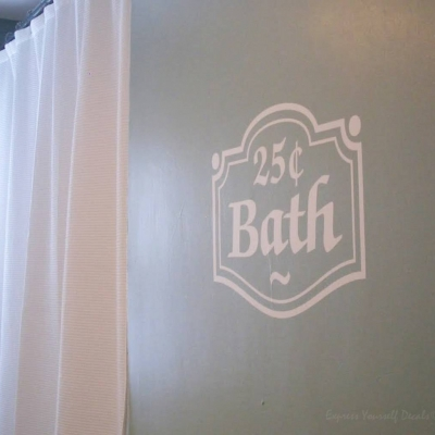 Bath 25cent wall decal