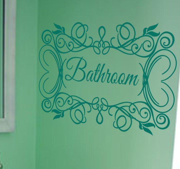 Bathroom wall decal sticker