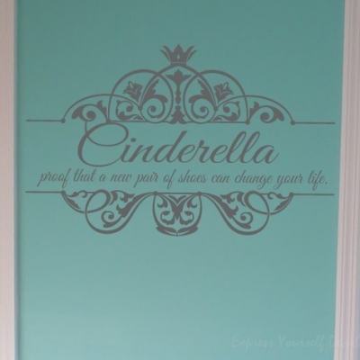 New shoes Cinderella wall decal sticker