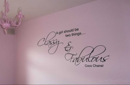 Classy and Fabulous wall decal