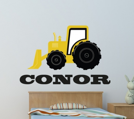 Digger wall decal sticker