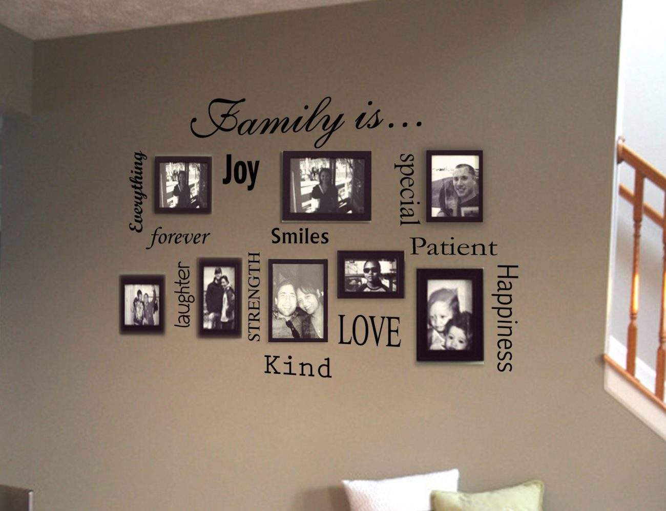 Family is wall decal sticker Family is word collage kit wall decal sticker