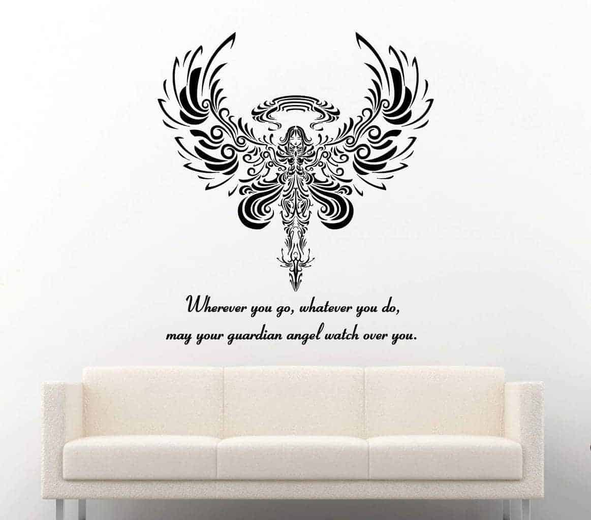 Guardian Angel Wall Decal Sticker Wall Decal Wall Art