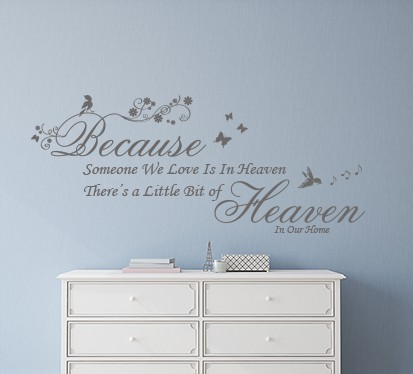 Heaven quote wall decal sticker