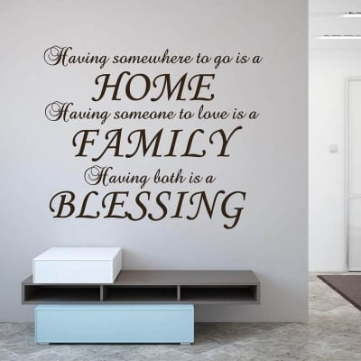 Home Family Blessing wall decal sticker