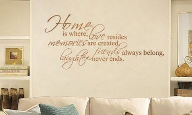 Home Where Love Resides wall decal