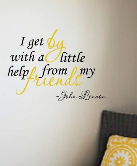 Help from my friends wall decal sticker