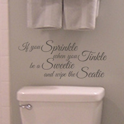If you sprinkle wall decal