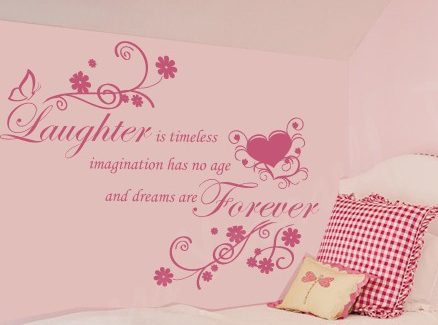 Laughter is timeless wall decal