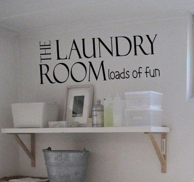 The laundry room wall art decal sticker