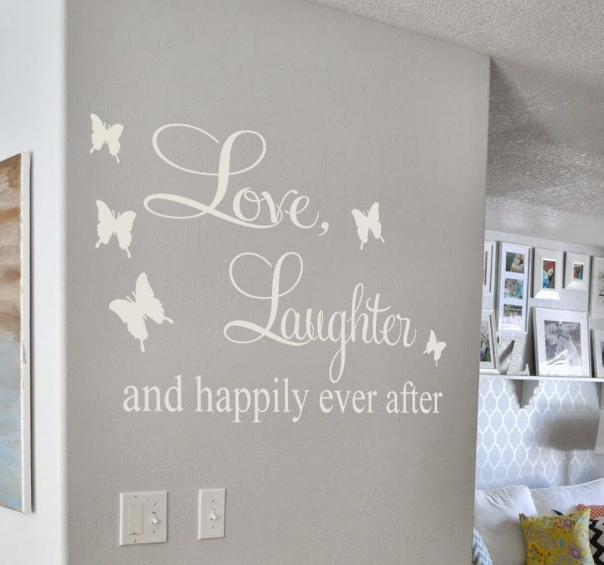 Happily ever after wall decal sticker