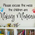 Children making memories wall decal