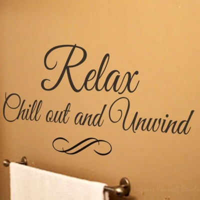 Relax wall art decal