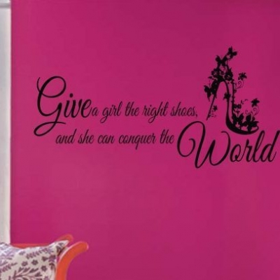 Right shoes wall decal sticker