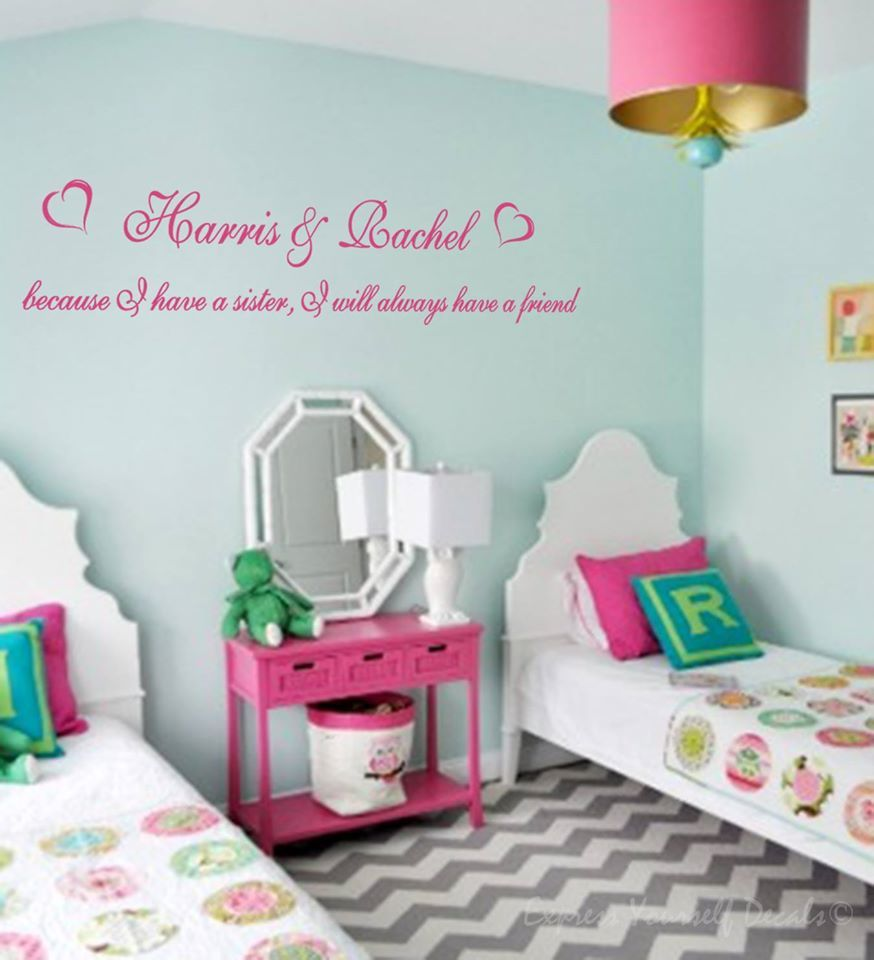 Sister personalised wall decal