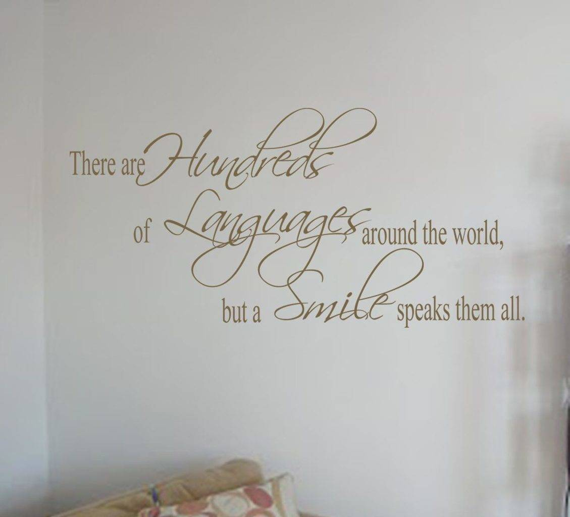 A smile speaks them all wall decal