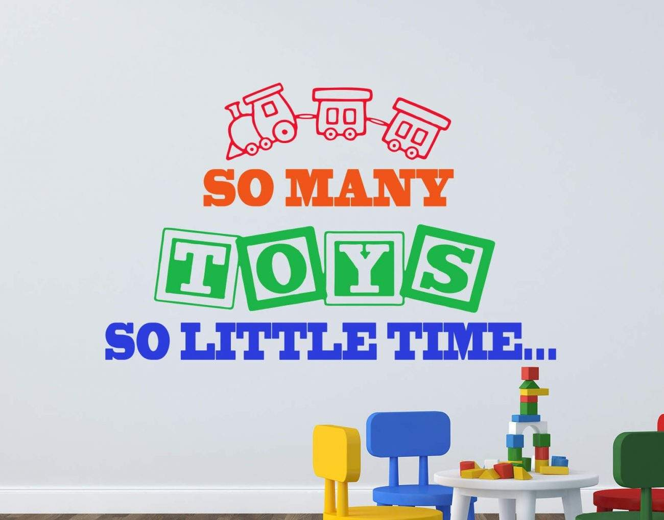 So many toys wall decal sticker