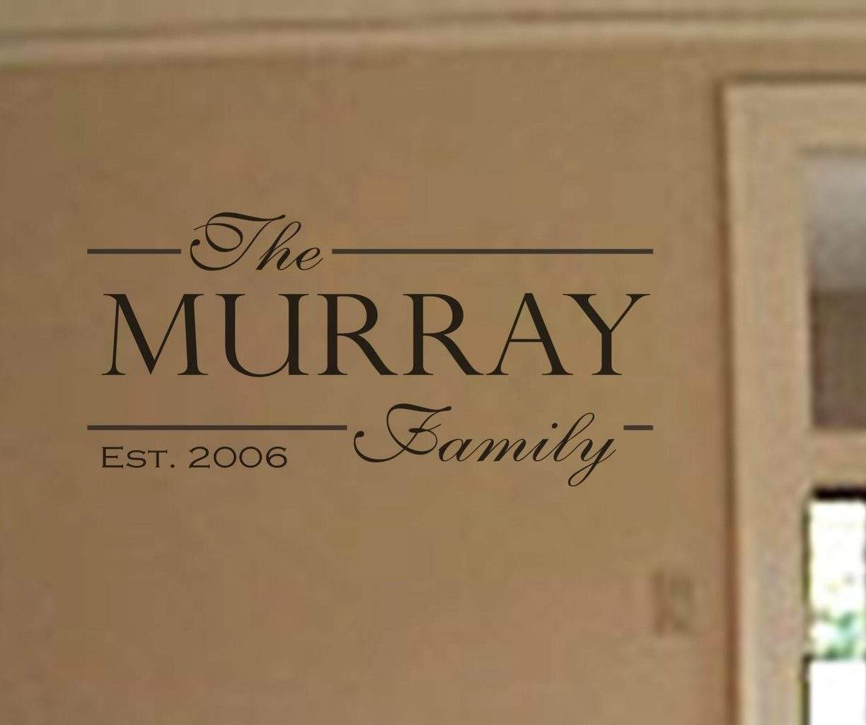 Personalised Family wall decal
