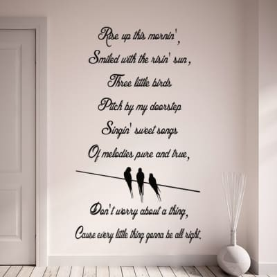 Three little birds wall decal