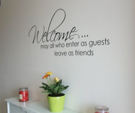 Welcome wall decal sticker