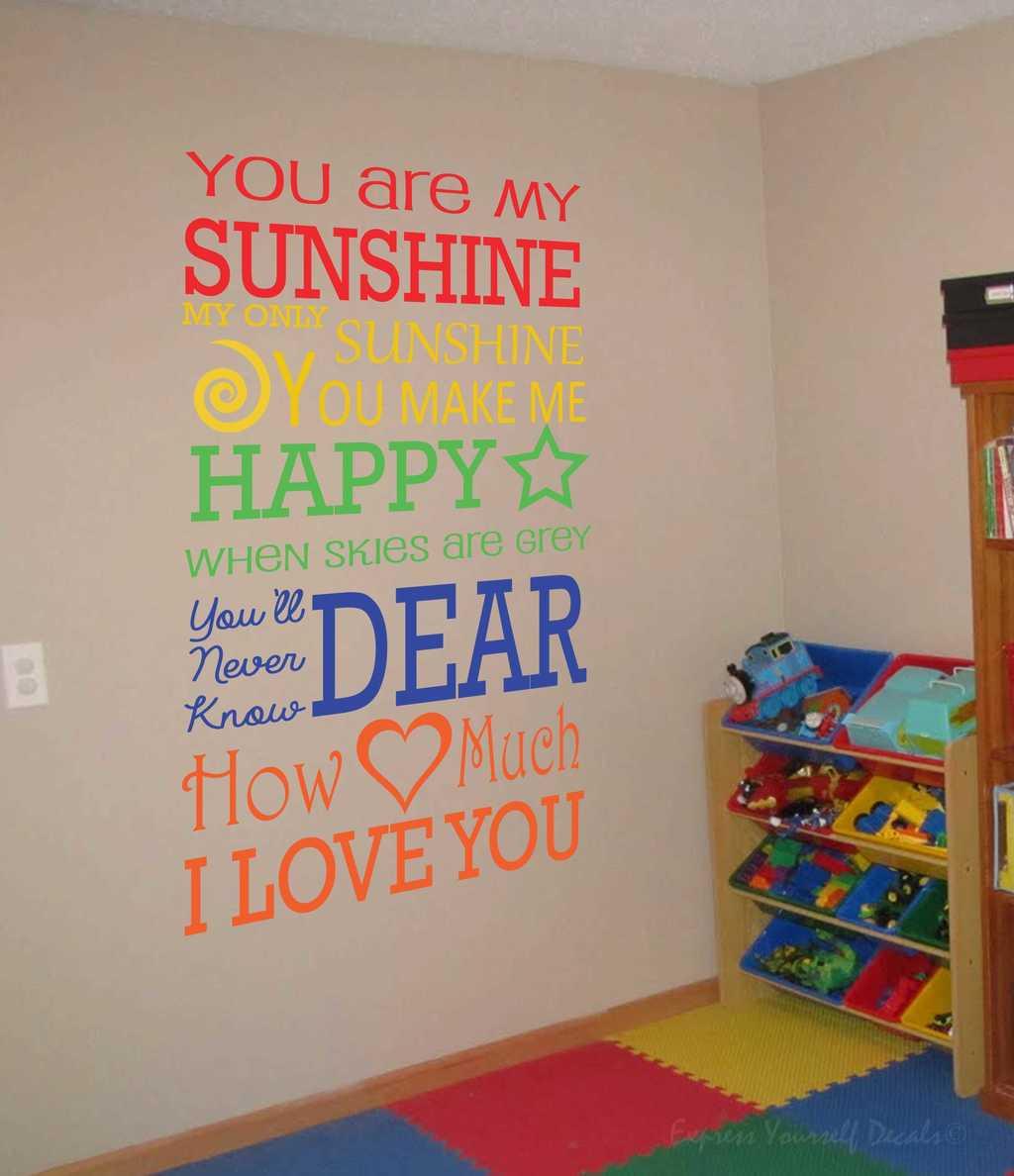 My Sunshine Wall Decal Sticker