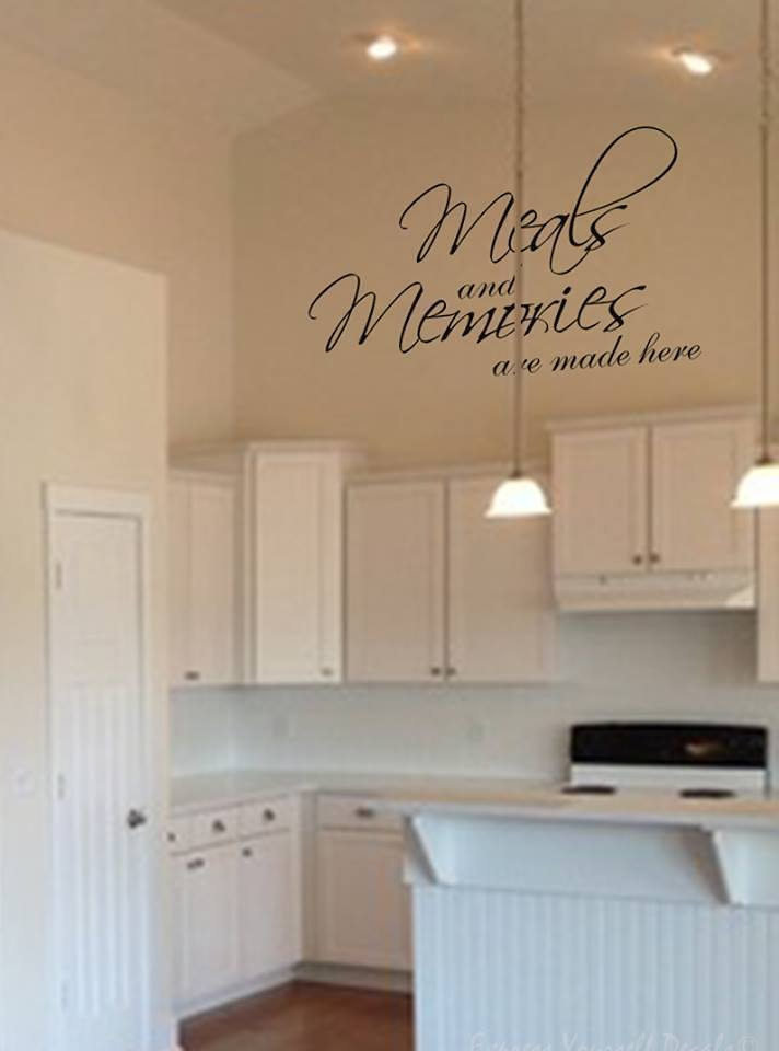 Meals and memories wall decal