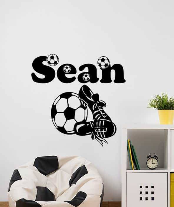 Football personalised wall decal sticker