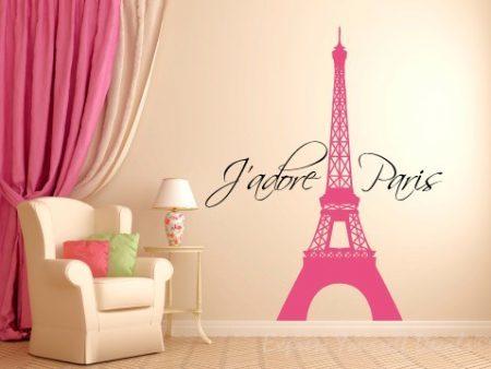 J'adore Paris wall decal sticker