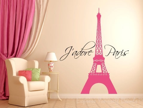 J'adore Paris wall decal sticker