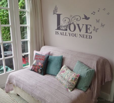 Love is all you need wall decal sticker