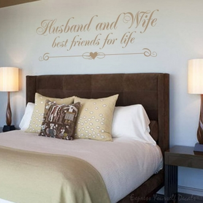 Husband and Wife wall decal sticker