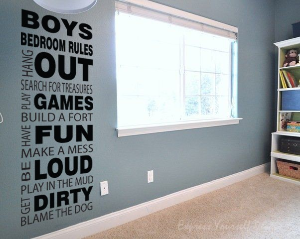 Boys Rules wall decal sticker