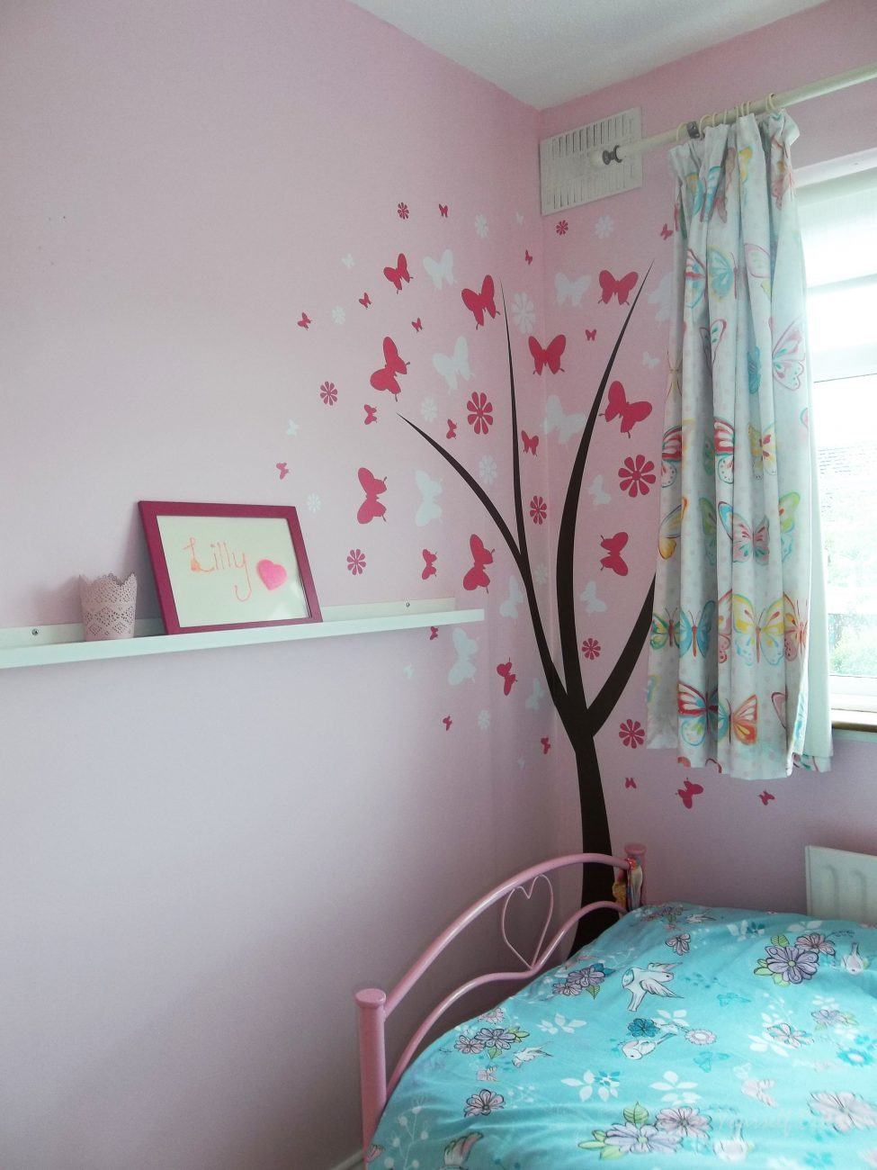 Butterfly flower tree - wall art decal