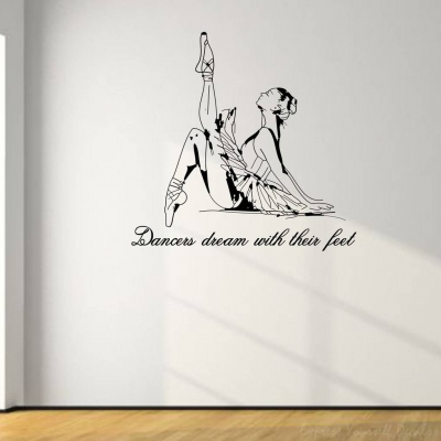 Dancers dream wall decal sticker
