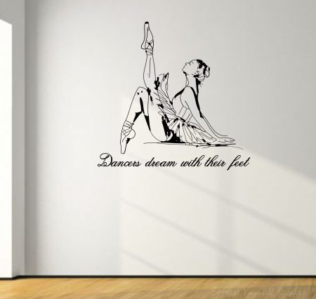 Dancers dream wall decal sticker