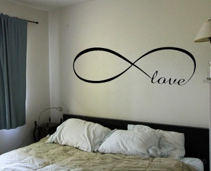 Infinity love wall decal sticker